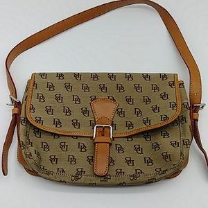 DOONEY BOURKE Vintage Signature Flap Shoulder Bag